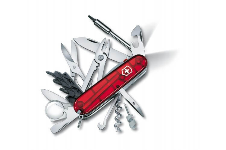 Couteau suisse Victorinox 21 pieces CYBER TOOL LITE rouge translucide