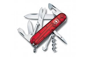 Couteau suisse Victorinox Climber rouge translucide 91mm 14 fonctions