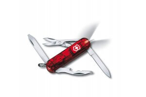 Couteau suisse Victorinox 6 pièces Midnite Manager Rouge translucide