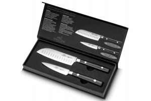 Coffret SABATIER International Leonys Office 9cm + Santoku alvéolé 12cm