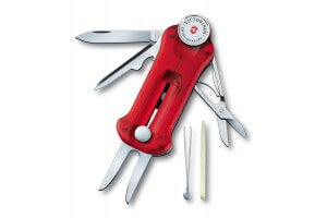 Couteau suisse Victorinox Golftool rouge translucide 91mm 10 fonctions