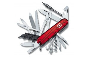 Couteau suisse Victorinox Cyber Tool L rouge translucide 91mm 39 fonctions